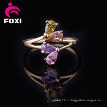 Последний дизайн 18k позолоченные кольца ювелирных изделий