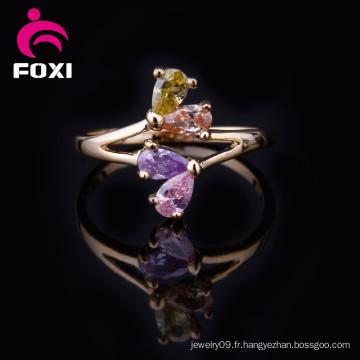 Dernières anneaux de bijoux en plaqué or Design 18k