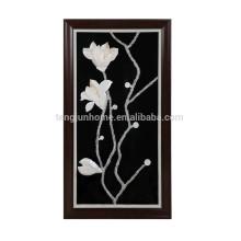 Einzigartiges Shell machte Magnolien-Blumen-Form-Wandbild für Dekoration