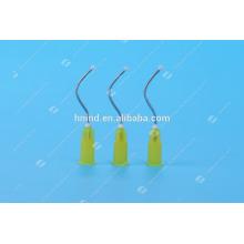Disposable Dental Pre-bent Needle Tips,Dental Irrigation Needle Bend Tip