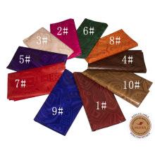 2017 El último diseño Guinea Brocade viste la tela de algodón 100% para el partido