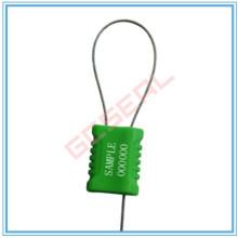 Selo de segurança do cabo revestido de plástico com cabo de 1mm de diâmetro