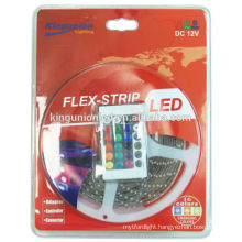 LED Strip Light Kit and LED Strip Light Blister Package with Controller and Remote