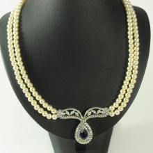 Double Layer White Pearl Necklace