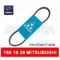 MITSUBOSHI DRIVE BELT V BELT 788 x 18 x 28 SCOOTER MOTORCYCLE V BELT (P / N: ST04017-0008) CALIDAD ORIGINAL