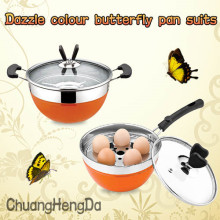 ChaoZhou stainless steel Butterflies Pot Set