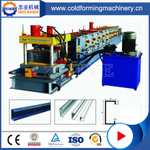 Profil Aluminium C Purlin Roll Forming Machine