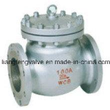 Válvula de retenção Swing de flange de aço carbono JIS