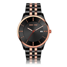 trend design colour stainless steel back 3atm quartz mens watch