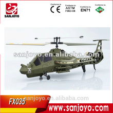 FX035 4 canales Single blade rc comanche helicopter
