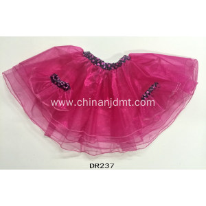 Multilayer pink gauze skirt