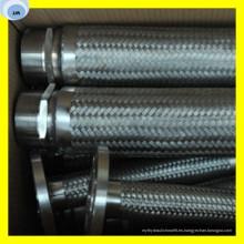 Tubo de metal con tubo de manguera de alta presión flexible