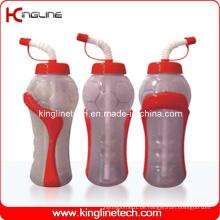 Plastik Sport Wasserflasche, Kunststoff Sport Wasserflasche, 600ml Kunststoff Trinkflasche (KL-6650)