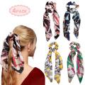 Scarf Scrunchies Silk Satin Elastic Hair Band