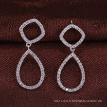 925 bijoux en argent sterling deux cercles boucles d'oreilles en gros alibaba femmes cadeau de noël