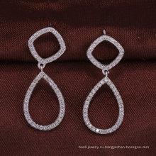 925 стерлингового серебра ювелирные изделия серьги двух кругов alibaba оптовых женщин Рождественский подарок