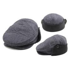 Зимняя клетчатая плоская шляпка Gatsby Крышка IVY с ушной раковиной