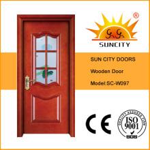 Hot Sales Veneer Painting Glass Wooden Door (SC-W097)