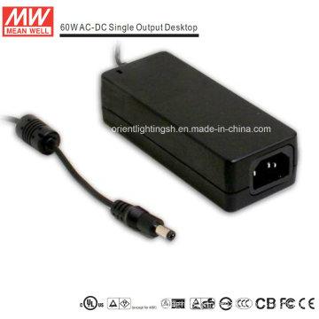 Mean Well 60W AC-DC Desktop Power Supply