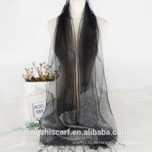2016 Neuankömmling Rohseide Schal Großhandel Mädchen Kleider mit OEM-Muster