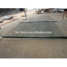 painel revestido de alta segurança da cerca de fio soldado do vinil com fio da sanfona na parte superior