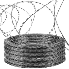 Razor Barbed wire  pvc Powder coating barbed wire price High Security Fence