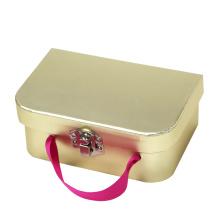 Золотой чемодан из фольги с лентой