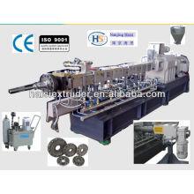 SHJ-65 co máquinas do gêmeo-parafuso de rotativas para fazer pellets de madeira plásticas