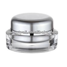 15ml 20ml 30ml 50ml Oval Acrylic cosméticos Jar para crema de cuidado de la piel