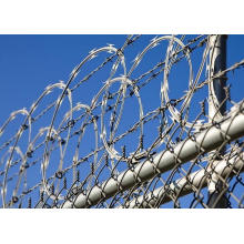 High Tensile Galvnaized PVC Coated Airport Razor Wire Fence