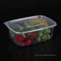 Recipiente de alimento plástico claro descartável da linha aérea de 1000ml microwavable PP
