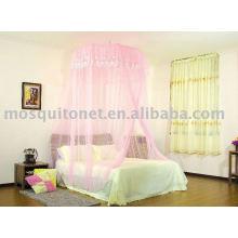 Canopy da cama do palácio rosa