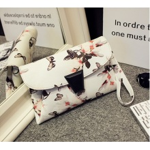 Guangzhou Supplier Printing PU Leather Women Hand Bag Cross Bag Cltuch Purse (D006)