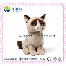 Nettes mürrisches Katzen-Plüsch-angefülltes Tier-Spielzeug