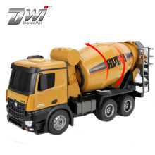 DWI 2.4 GHz 10 channel 1/14 Huina 1574 rc concrete mixer truck for kids
