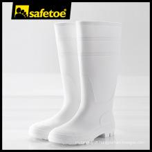 Bota de goma, botas de goma de PVC, botas de goma branca W-6036W