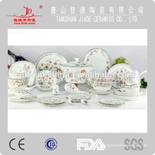 46PCS 121 sistema de la cena de China del hueso del ESTILO del DISEÑO de PCS RUSIA, serie de las mercancías de la cena
