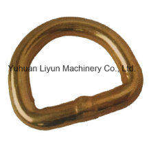 35mm X 2000kg Steel D-Ring for Ratchet Tie Down Strap, Cargo Lashing