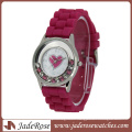 Heart Shape Dial Silicone Strap Fashion Ladies Love Watch
