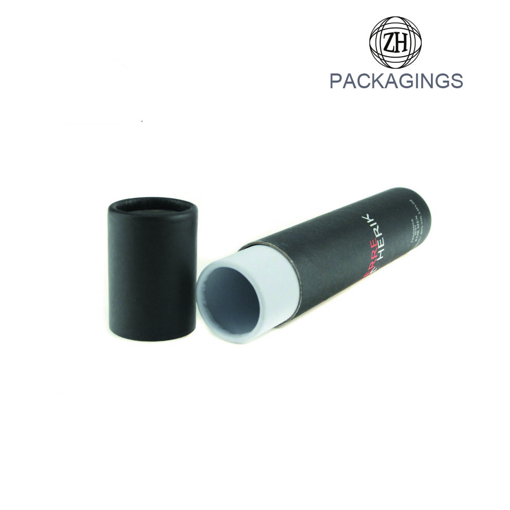 Matt black cardboard tube gift box for poster