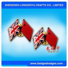 National Flag Badge of China and United Kingdom