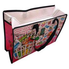 Cartoon PP Laminierung Nonwoven Schulter Reißverschluss Tasche für Shopping