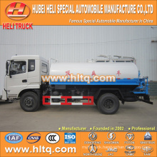 DONGFENG 4x2 8000L fecal vacuum tank truck 170hp cummins engine