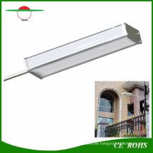 El jardín solar sensible del sensor del radar enciende 48LED aleación de aluminio IP65 lámpara solar al aire libre alto brillo luz de calle flexible