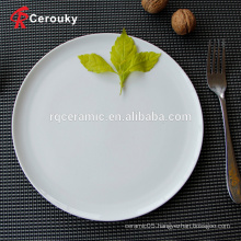 Wholesale round shape cheap stoneware charger dinner plate