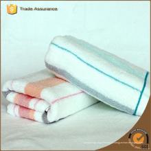 100% algodão personalizado listrado toalhas de praia, toalhas de piscina