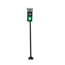 Mini 125mm Pedestrian Solar Pole Traffic Signal Light