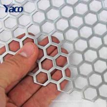 шестиугольный пефорированный лист металла, пефорированная сетка металла плиты, перфорированная поставщик металла Малайзия