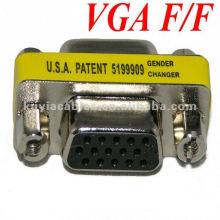 NUEVO cambiador del género del monitor del VGA 15Pin hembra femenina