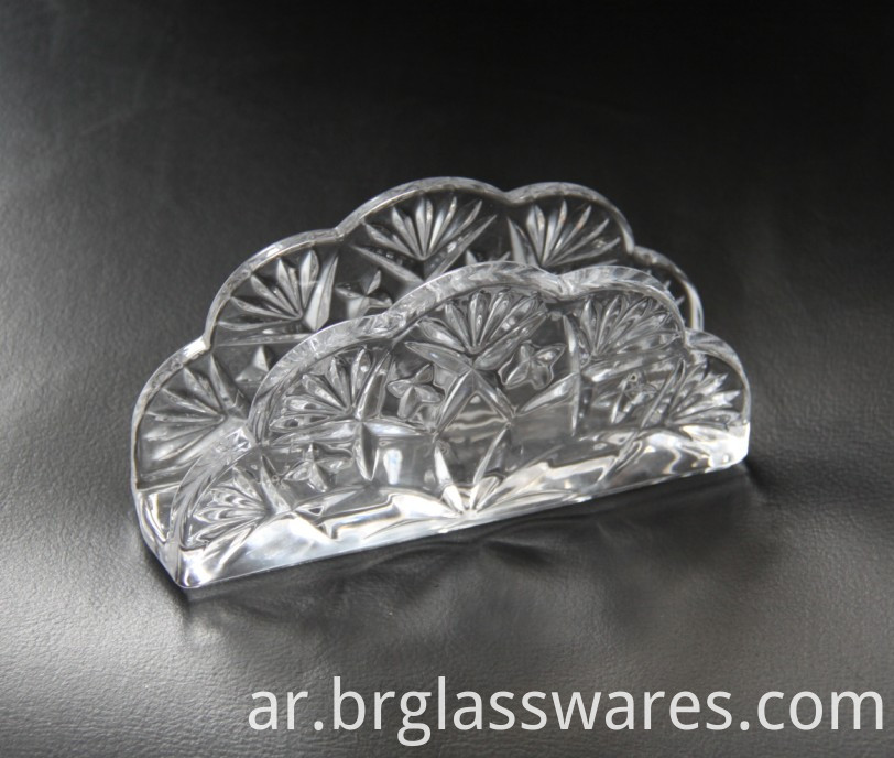 glass napkin holder